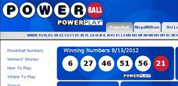 washingtons powerball powerplay winning numbers