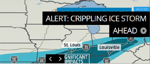 Winter Storm Cleon: Massive Ice Storm and Cold Temperature Drop Threatens Million in the U.S. say Weather Channel Experts