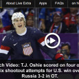 "<!-- AddThis Sharing Buttons above -->                 <div class=""addthis_toolbox addthis_default_style "" addthis:url='http://newstaar.com/watch-video-t-j-oshie-shootout-performance-gives-usa-hockey-team-win-over-russia-in-sochi-olympics/359918/'   >                     <a class=""addthis_button_facebook_like"" fb:like:layout=""button_count""></a>                     <a class=""addthis_button_tweet""></a>                     <a class=""addthis_button_pinterest_pinit""></a>                     <a class=""addthis_counter addthis_pill_style""></a>                 </div>Laying down a series of fantastic shots on goal in the overtime shootout in the USA va. Russia Olympic hockey game on Saturday, T.J. Oshie gave his team an incredible win over team Russia. If you didn't get to watch the hard fought game live, […]<!-- AddThis Sharing Buttons below -->                 <div class=""addthis_toolbox addthis_default_style addthis_32x32_style"" addthis:url='http://newstaar.com/watch-video-t-j-oshie-shootout-performance-gives-usa-hockey-team-win-over-russia-in-sochi-olympics/359918/'  >                     <a class=""addthis_button_preferred_1""></a>                     <a class=""addthis_button_preferred_2""></a>                     <a class=""addthis_button_preferred_3""></a>                     <a class=""addthis_button_preferred_4""></a>                     <a class=""addthis_button_compact""></a>                     <a class=""addthis_counter addthis_bubble_style""></a>                 </div>"