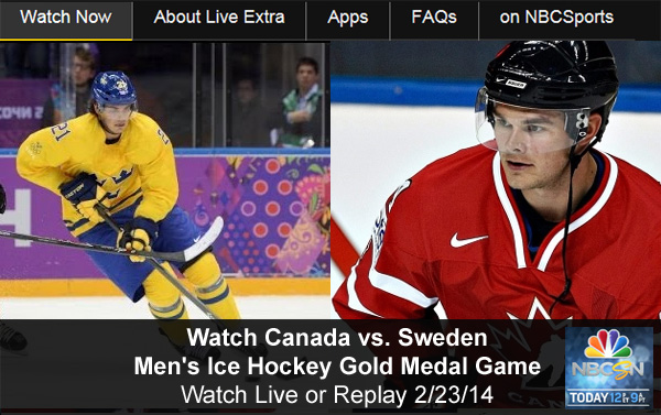 Watch Olympic Hockey Online – Canada vs. Sweden Men's Gold Medal Game - Free Live and Replay Video Streams