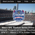 In what will be the 5th of 6 outdoor NHL games this year, building on the popularity of the Winter Classic, the Pittsburgh Penguins take on the Chicago Blackhawks in outdoor NHL ice hockey at Soldier Field. If you can't get to a TV to...