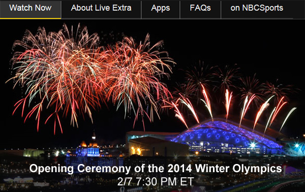 Winter olympics opening ceremony watch live online free video stream
