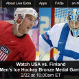 "<!-- AddThis Sharing Buttons above -->                 <div class=""addthis_toolbox addthis_default_style "" addthis:url='http://newstaar.com/watch-olympic-hockey-online-usa-vs-finland-mens-bronze-medal-game-free-live-and-replay-video-streams/359977/'   >                     <a class=""addthis_button_facebook_like"" fb:like:layout=""button_count""></a>                     <a class=""addthis_button_tweet""></a>                     <a class=""addthis_button_pinterest_pinit""></a>                     <a class=""addthis_counter addthis_pill_style""></a>                 </div>After falling 1-0 to the Canadians on Friday, the USA Men's Olympic ice hockey team will now face-off with Finland in a fight for 3rd place in the Sochi games. Airing at 10am, viewers can watch the USA-Finland Men's Hockey bronze medal game online via […]<!-- AddThis Sharing Buttons below -->                 <div class=""addthis_toolbox addthis_default_style addthis_32x32_style"" addthis:url='http://newstaar.com/watch-olympic-hockey-online-usa-vs-finland-mens-bronze-medal-game-free-live-and-replay-video-streams/359977/'  >                     <a class=""addthis_button_preferred_1""></a>                     <a class=""addthis_button_preferred_2""></a>                     <a class=""addthis_button_preferred_3""></a>                     <a class=""addthis_button_preferred_4""></a>                     <a class=""addthis_button_compact""></a>                     <a class=""addthis_counter addthis_bubble_style""></a>                 </div>"