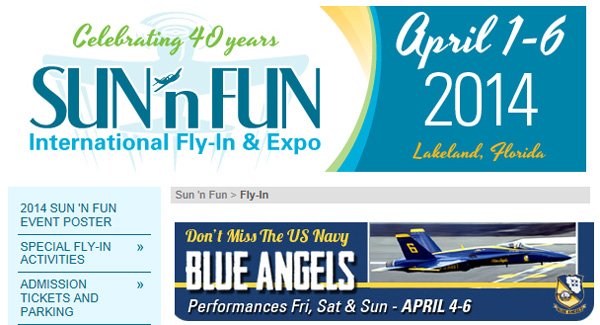 Annual Sun-n-Fun Fly-in and Airshows just Over a Week Away