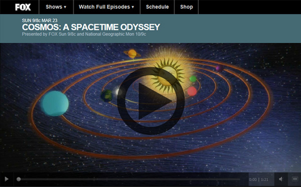 Watch COSMOS Online Live Video Stream Episode 3 and Replays of all Episodes