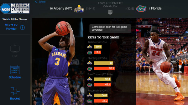 watch march madness online free live stream as second round games