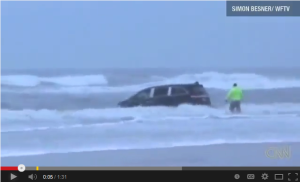 Watch Video: Pregnant Mother Drives Children into Ocean in Daytona Beach