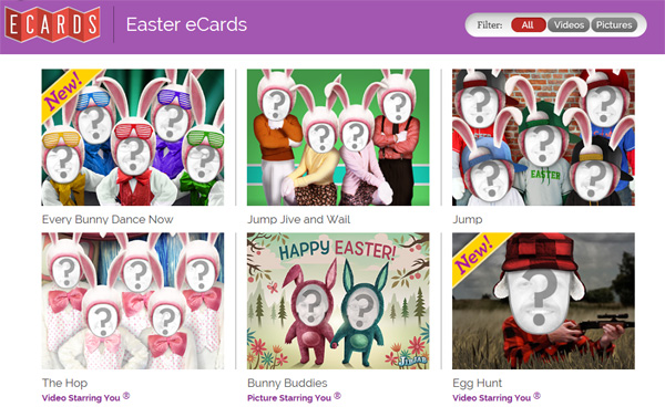 Free Easter eCards Online Feature Funny Animated and Video Interactivity