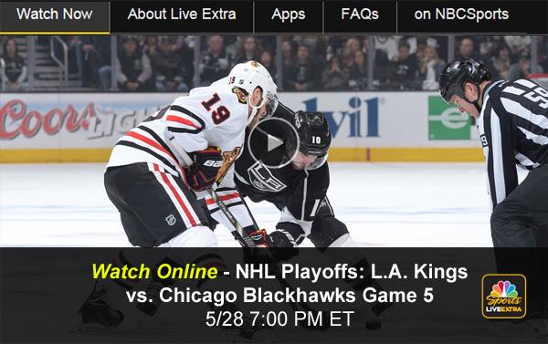 Blackhawks-Kings: Watch NHL Playoffs Game 5 Online via Free Live Video Stream