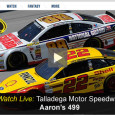 "<!-- AddThis Sharing Buttons above -->                 <div class=""addthis_toolbox addthis_default_style "" addthis:url='http://newstaar.com/watch-nascar-at-talladega-online-free-live-video-stream-of-sprint-cup-aarons-499/3510597/'   >                     <a class=""addthis_button_facebook_like"" fb:like:layout=""button_count""></a>                     <a class=""addthis_button_tweet""></a>                     <a class=""addthis_button_pinterest_pinit""></a>                     <a class=""addthis_counter addthis_pill_style""></a>                 </div>NASCAR heads to Talladega today for the Aaron's 499 Sprint Cup series race. The race airs today on Fox television and for mobile viewers, Fox sports will let you watch the NASCAR Aaron's 449 online with free live video stream from Talladega today. Online video […]<!-- AddThis Sharing Buttons below -->                 <div class=""addthis_toolbox addthis_default_style addthis_32x32_style"" addthis:url='http://newstaar.com/watch-nascar-at-talladega-online-free-live-video-stream-of-sprint-cup-aarons-499/3510597/'  >                     <a class=""addthis_button_preferred_1""></a>                     <a class=""addthis_button_preferred_2""></a>                     <a class=""addthis_button_preferred_3""></a>                     <a class=""addthis_button_preferred_4""></a>                     <a class=""addthis_button_compact""></a>                     <a class=""addthis_counter addthis_bubble_style""></a>                 </div>"