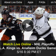 "<!-- AddThis Sharing Buttons above -->                 <div class=""addthis_toolbox addthis_default_style "" addthis:url='http://newstaar.com/watch-kings-ducks-online-nhl-playoff-game-7-western-conference-live-video-stream/3510657/'   >                     <a class=""addthis_button_facebook_like"" fb:like:layout=""button_count""></a>                     <a class=""addthis_button_tweet""></a>                     <a class=""addthis_button_pinterest_pinit""></a>                     <a class=""addthis_counter addthis_pill_style""></a>                 </div>After tying up the Western Conference series 3-3 with a win Wednesday night, the LA Kings forced a final game 7 with the Anaheim Ducks. While television audiences tune in to NBCSN on Friday night, mobile fans can watch the NHL Playoff game 7 between […]<!-- AddThis Sharing Buttons below -->                 <div class=""addthis_toolbox addthis_default_style addthis_32x32_style"" addthis:url='http://newstaar.com/watch-kings-ducks-online-nhl-playoff-game-7-western-conference-live-video-stream/3510657/'  >                     <a class=""addthis_button_preferred_1""></a>                     <a class=""addthis_button_preferred_2""></a>                     <a class=""addthis_button_preferred_3""></a>                     <a class=""addthis_button_preferred_4""></a>                     <a class=""addthis_button_compact""></a>                     <a class=""addthis_counter addthis_bubble_style""></a>                 </div>"