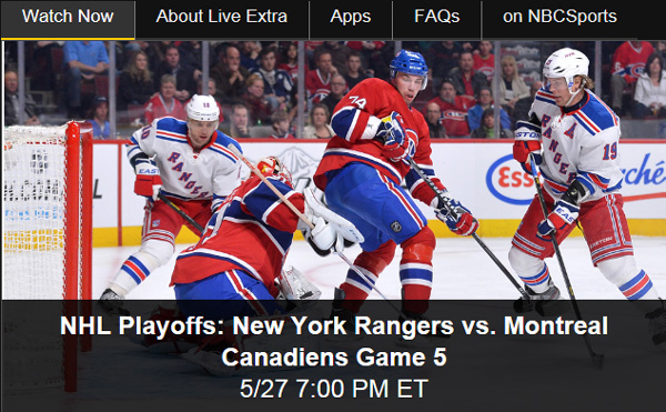 Watch Online: Rangers-Canadiens Game 5 Live Stream of NHL Playoffs