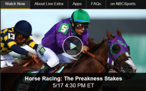 Watch Preakness Stakes Online via Free Live Video of Horse Racing from NBC Sports