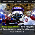 Despite having the Canadiens on the ropes with a 3-1 lead in the 7 game series for the NHL Playoffs Eastern Conference championship Tuesday, the Rangers lost 7-4 pushing things to a game 6 tonight. For those who can't watch the game on television on...
