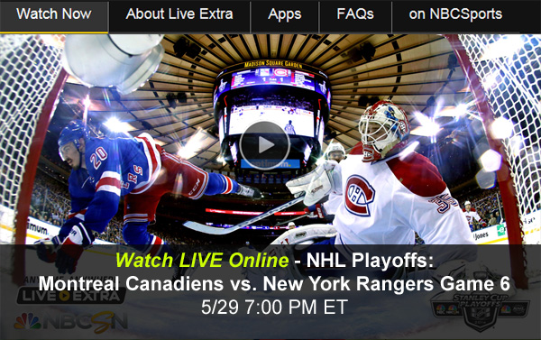 Rangers-Canadiens Game 6: Watch Online as NY Hopes to win the Eastern Conference in the NHL