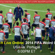 """With a win today over Portugal, team USA could propel themselves into the final round of 16 in the 2014 FIFA World Cup tournament. Coverage of tonight's critical game airs on ESPN, and to expand the coverage, mobile viewers can watch the USA-Portugal World Cup […]<!-- AddThis Sharing Buttons below -->                 <div class=""""addthis_toolbox addthis_default_style addthis_32x32_style"""" addthis:url='http://newstaar.com/watch-2014-fifa-world-cup-soccer-online-usa-v-portugal-free-live-video-stream/3510826/' addthis:title='Watch 2014 FIFA World Cup Soccer Online – USA v. Portugal – Free Live Video Stream' >                     <a class=""""addthis_button_preferred_1""""></a>                     <a class=""""addthis_button_preferred_2""""></a>                     <a class=""""addthis_button_preferred_3""""></a>                     <a class=""""addthis_button_preferred_4""""></a>                     <a class=""""addthis_button_compact""""></a>                     <a class=""""addthis_counter addthis_bubble_style""""></a>                 </div>"""