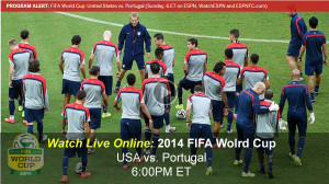 Watch 2014 FIFA World Cup Soccer Online – USA v. Portugal - Free Live Video Stream