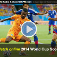"<!-- AddThis Sharing Buttons above -->                 <div class=""addthis_toolbox addthis_default_style "" addthis:url='http://newstaar.com/watch-world-cup-soccer-online-free-live-video-stream-of-2014-fifa-matches-from-brazil/3510804/'   >                     <a class=""addthis_button_facebook_like"" fb:like:layout=""button_count""></a>                     <a class=""addthis_button_tweet""></a>                     <a class=""addthis_button_pinterest_pinit""></a>                     <a class=""addthis_counter addthis_pill_style""></a>                 </div>After some exciting opening rounds, the soccer action from Brazil continues with complete coverage both on television and streaming online. ESPN has been broadcasting game and letting fans watch the 2014 FIFA World Cup online via a free live video stream. Today, ABC will also […]<!-- AddThis Sharing Buttons below -->                 <div class=""addthis_toolbox addthis_default_style addthis_32x32_style"" addthis:url='http://newstaar.com/watch-world-cup-soccer-online-free-live-video-stream-of-2014-fifa-matches-from-brazil/3510804/'  >                     <a class=""addthis_button_preferred_1""></a>                     <a class=""addthis_button_preferred_2""></a>                     <a class=""addthis_button_preferred_3""></a>                     <a class=""addthis_button_preferred_4""></a>                     <a class=""addthis_button_compact""></a>                     <a class=""addthis_counter addthis_bubble_style""></a>                 </div>"