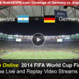 Two major upset matches have led to a much anticipated final match in the today's World Cup Gold Medan final between Germany and Argentina. Today's game will air on ABC television and for mobile device users, ESPN will continue to give them a way to...