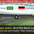 """Only 4 teams remain in the 2014 World Cup soccer tournament. This afternoon, Brazil takes on Germany to see who will advance to the final game next Sunday. ESPN will air today's game with record numbers of viewers expected. Numbers of mobile viewers are expected […]<!-- AddThis Sharing Buttons below -->                 <div class=""""addthis_toolbox addthis_default_style addthis_32x32_style"""" addthis:url='http://newstaar.com/watch-fifa-world-cup-online-free-live-video-stream-brazil-germany-semi-final-match/3510882/' addthis:title='Watch FIFA World Cup Online Free Live Video Stream Brazil-Germany Semi Final Match' >                     <a class=""""addthis_button_preferred_1""""></a>                     <a class=""""addthis_button_preferred_2""""></a>                     <a class=""""addthis_button_preferred_3""""></a>                     <a class=""""addthis_button_preferred_4""""></a>                     <a class=""""addthis_button_compact""""></a>                     <a class=""""addthis_counter addthis_bubble_style""""></a>                 </div>"""