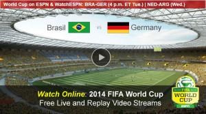 Watch FIFA World Cup Online Free Live Video Stream Brazil-Germany Semi Final Match