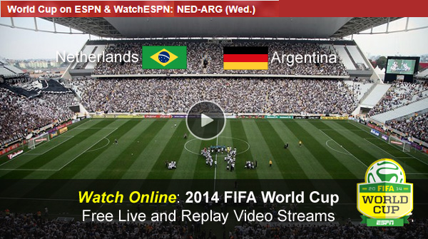 Watch FIFA World Cup Online Free Live Video Stream Netherlands-Argentina Semi Final Match
