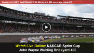 This afternoon NASCAR fans head to the Indianapolis Motor Speedway for the 21st Annual John Wayne Walding Brickyard 400. This week the NASCAR Sprint Cup series will air on ESPN at 1PM eastern time, which also lets mobile race fans watch the NASCAR John Wayne...
