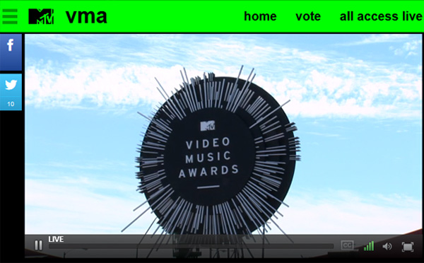 Watch 2014 MTV Video Music Awards (VMAs) Online via Live Video Stream