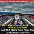 Tonight, under the lights at the Bristol Motor Speedway, NASCAR drivers in the Sprint Cup Series will race 500 laps covering 266.5 miles around the Bullring in the Irwin Tools Night Race. The race airs on ABC television at 7:30pm eastern while mobile viewers can...