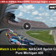 "<!-- AddThis Sharing Buttons above -->                 <div class=""addthis_toolbox addthis_default_style "" addthis:url='http://newstaar.com/watch-nascar-pure-michigan-400-online-free-live-video-stream-from-espn/3510990/'   >                     <a class=""addthis_button_facebook_like"" fb:like:layout=""button_count""></a>                     <a class=""addthis_button_tweet""></a>                     <a class=""addthis_button_pinterest_pinit""></a>                     <a class=""addthis_counter addthis_pill_style""></a>                 </div>At 1PM eastern today, the green flag will drop at the Michigan International Raceway as NASCAR's best compete in the Sprint Cup Series Pure Michigan 400. Broadcast coverage of the race begins on ESPN at noon, and is also available for fans to watch the […]<!-- AddThis Sharing Buttons below -->                 <div class=""addthis_toolbox addthis_default_style addthis_32x32_style"" addthis:url='http://newstaar.com/watch-nascar-pure-michigan-400-online-free-live-video-stream-from-espn/3510990/'  >                     <a class=""addthis_button_preferred_1""></a>                     <a class=""addthis_button_preferred_2""></a>                     <a class=""addthis_button_preferred_3""></a>                     <a class=""addthis_button_preferred_4""></a>                     <a class=""addthis_button_compact""></a>                     <a class=""addthis_counter addthis_bubble_style""></a>                 </div>"