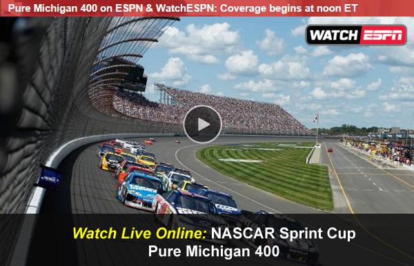 Image result for pure michigan 400 live stream