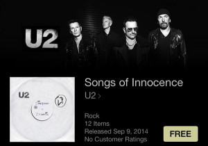 U2 Gives iTunes Customers Free Download of New 'Songs of Innocence' Album at Apple Event