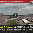 This Sunday, the Dover International Speedway will be the home for the NASCAR Sprint Cup Series as the drivers gather to race in the AAA 400. The 400 laps around the 1-mile track will be broadcast on ESPN. Meanwhile, race fans on the go get...