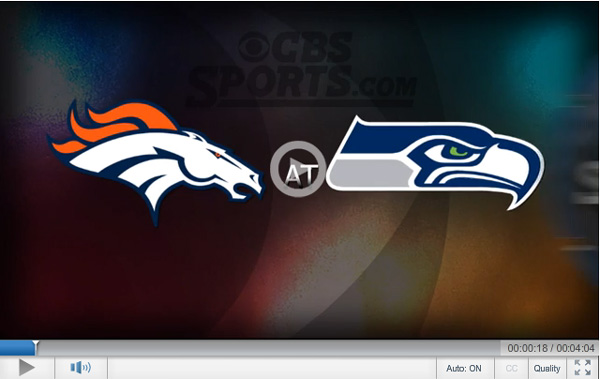 The cbs sports broadcast of today s rematch between the broncos and