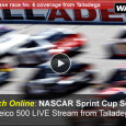 "<!-- AddThis Sharing Buttons above -->                 <div class=""addthis_toolbox addthis_default_style "" addthis:url='http://newstaar.com/watch-nascar-geico-500-online-free-live-video-stream-of-sprint-cup-series-from-talladega/3511267/'   >                     <a class=""addthis_button_facebook_like"" fb:like:layout=""button_count""></a>                     <a class=""addthis_button_tweet""></a>                     <a class=""addthis_button_pinterest_pinit""></a>                     <a class=""addthis_counter addthis_pill_style""></a>                 </div>NASCAR heads to the track in Talladega as drivers race for position and points in this sixth Sprint Cup series race of the 2014 season. The battle begins when the green flag drops at 2pm this afternoon. In addition to the live broadcast on ESPN, […]<!-- AddThis Sharing Buttons below -->                 <div class=""addthis_toolbox addthis_default_style addthis_32x32_style"" addthis:url='http://newstaar.com/watch-nascar-geico-500-online-free-live-video-stream-of-sprint-cup-series-from-talladega/3511267/'  >                     <a class=""addthis_button_preferred_1""></a>                     <a class=""addthis_button_preferred_2""></a>                     <a class=""addthis_button_preferred_3""></a>                     <a class=""addthis_button_preferred_4""></a>                     <a class=""addthis_button_compact""></a>                     <a class=""addthis_counter addthis_bubble_style""></a>                 </div>"