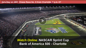 Watch NASCAR Bank of America 500 Online Live Video Stream from Charlotte