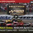 The next round for points in the NASCAR Sprint Cup series takes place this afternoon at the Kansas Speedway when drivers race in the Hollywood Casino 400. ESPN will carry the television broadcast of the race, while fans also get to watch the NASCAR Federated...
