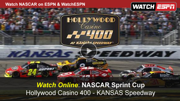 Watch NASCAR Hollywood Casino 400 Online Free Live Video Stream from the Kansas Speedway
