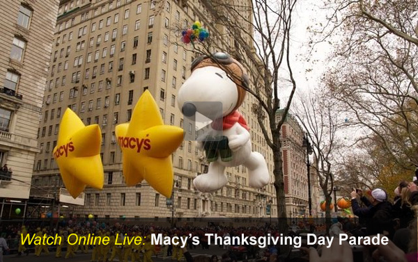 Watch Live: Macy's Thanksgiving Day Parade Online Video Stream
