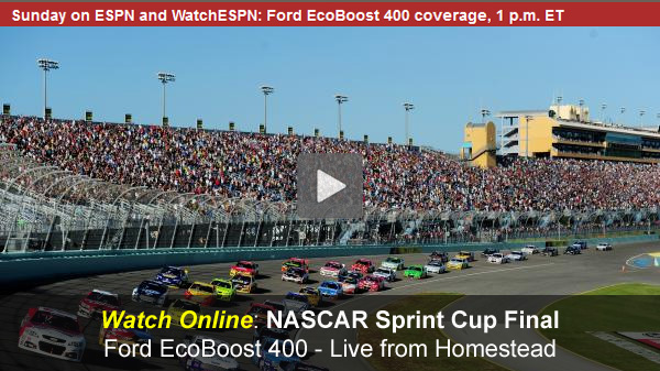 Watch NASCAR Online Free Live Video of Ford EcoBoost 400 Sprint Cup Series Finale at Homestead