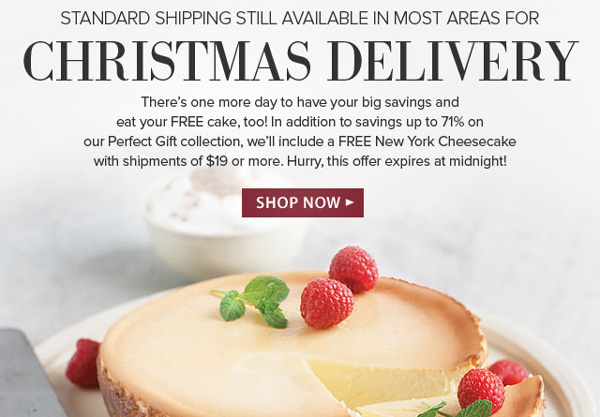 Omaha Steaks Still Offering Christmas Delivery, Discounts and Free Cheesecake