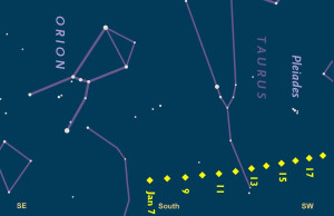 Update: Location to Spot Comet Lovejoy in Northern Hemisphere in January 2015