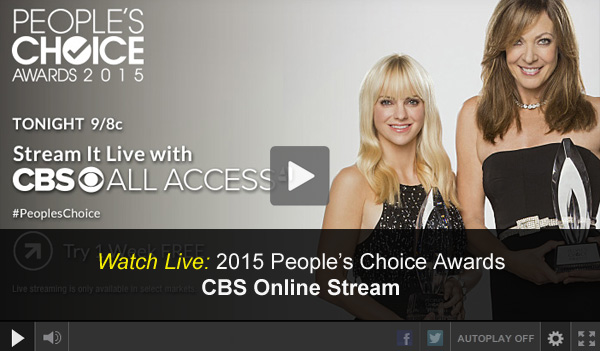 Watch 2015 People's Choice Awards Online – Free Live Video from CBS