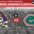 "<!-- AddThis Sharing Buttons above -->                 <div class=""addthis_toolbox addthis_default_style "" addthis:url='http://newstaar.com/watch-birmingham-bowl-online-live-video-stream-of-florida-vs-east-carolina/3511540/'   >                     <a class=""addthis_button_facebook_like"" fb:like:layout=""button_count""></a>                     <a class=""addthis_button_tweet""></a>                     <a class=""addthis_button_pinterest_pinit""></a>                     <a class=""addthis_counter addthis_pill_style""></a>                 </div>As NCAA football bowl games continue, this afternoon the 6-5 Florida Gators will take on the 8-4 Pirates of East Carolina in the Birmingham Bowl. The game is scheduled for 12 eastern from Legion Field in Birmingham AL. ESPN will broadcast the game for television […]<!-- AddThis Sharing Buttons below -->                 <div class=""addthis_toolbox addthis_default_style addthis_32x32_style"" addthis:url='http://newstaar.com/watch-birmingham-bowl-online-live-video-stream-of-florida-vs-east-carolina/3511540/'  >                     <a class=""addthis_button_preferred_1""></a>                     <a class=""addthis_button_preferred_2""></a>                     <a class=""addthis_button_preferred_3""></a>                     <a class=""addthis_button_preferred_4""></a>                     <a class=""addthis_button_compact""></a>                     <a class=""addthis_counter addthis_bubble_style""></a>                 </div>"