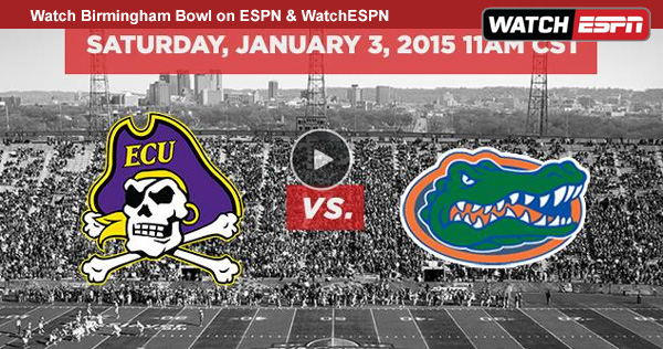 Watch Birmingham Bowl Online - Live Video Stream of Florida vs. East Carolina