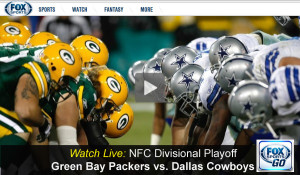 Cowboys-Packers: Watch Fox Live Video Stream Online of NFC Playoff Game