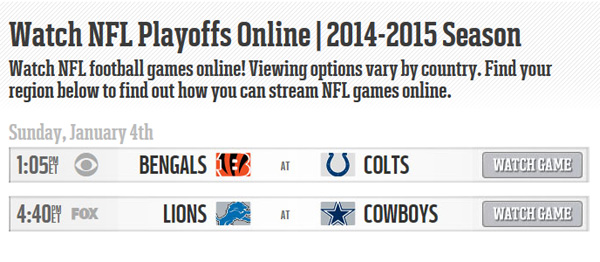 Watch NFL Wild Card Games Online: Bengals-Colts and Cowboys-Lions