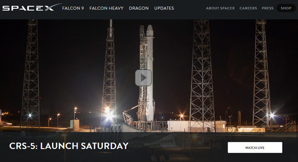 Live Video: SpaceX Launch of Falcon 9 Rocket and Dragon ...