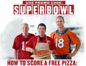 Free Papa John's Pizza Deal Offered for Super Bowl Fans