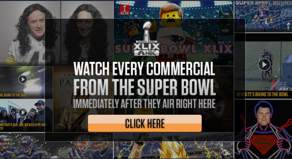 NBC Streams Every Super Bowl Commercial for Replay Online